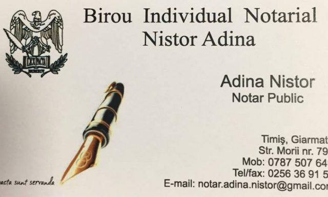 Birou Individual Notarial Nistor Adina